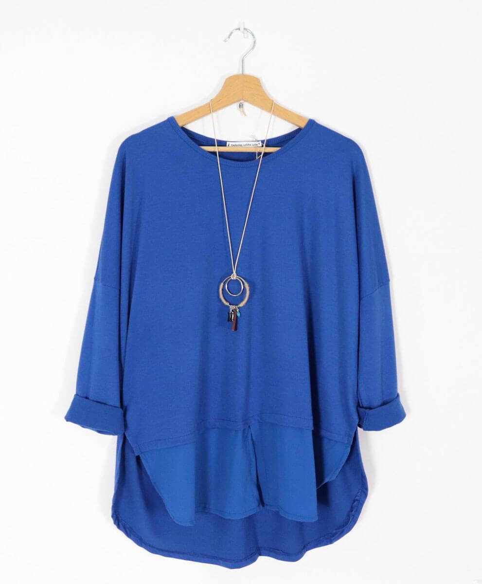 Camiseta/Camisa Azul
