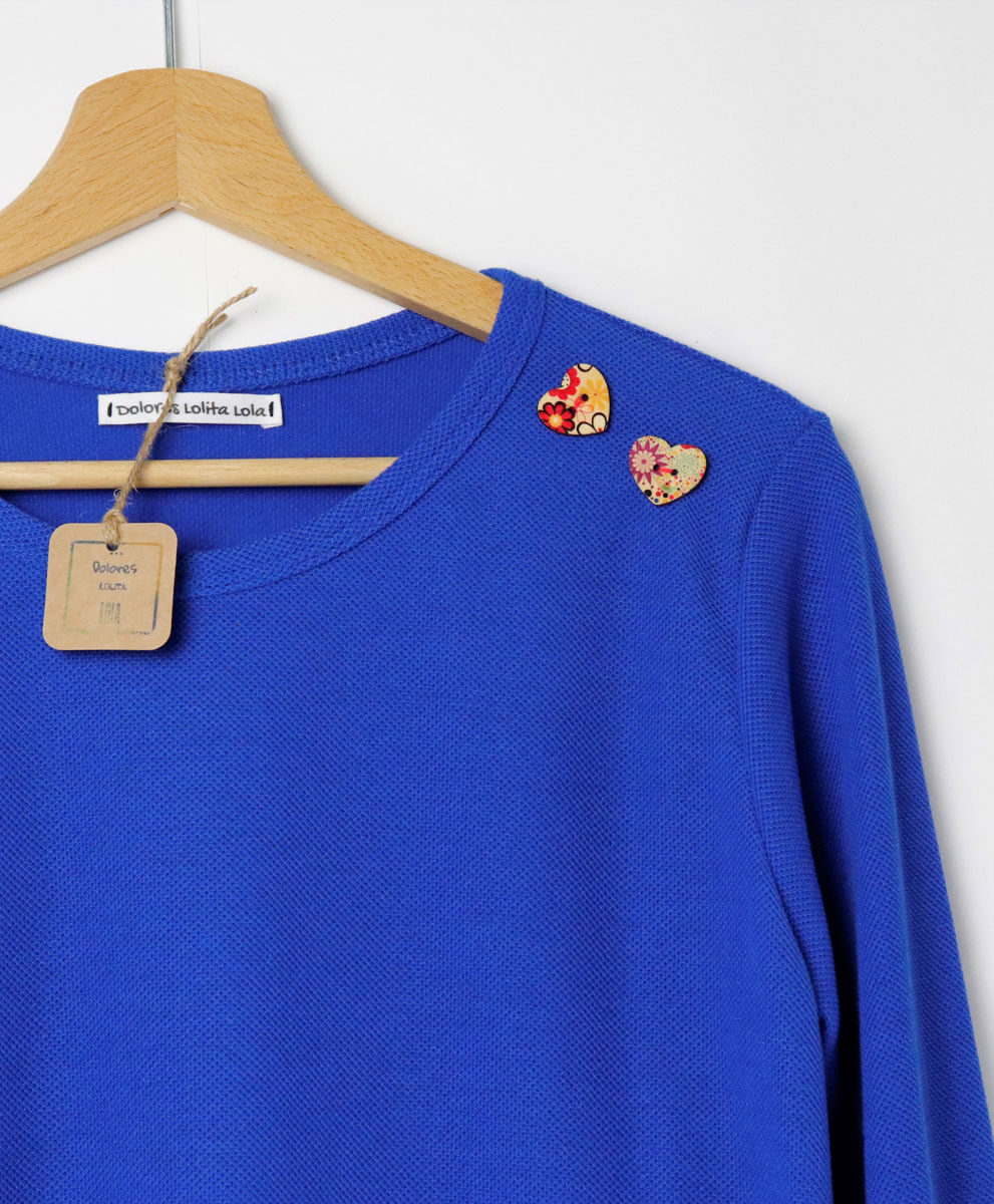 Camiseta Button Blue
