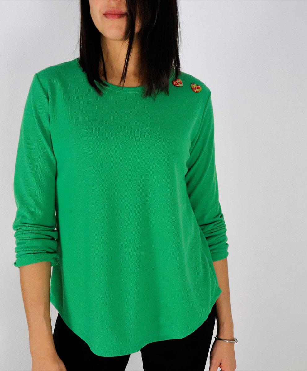 Camiseta Button Green