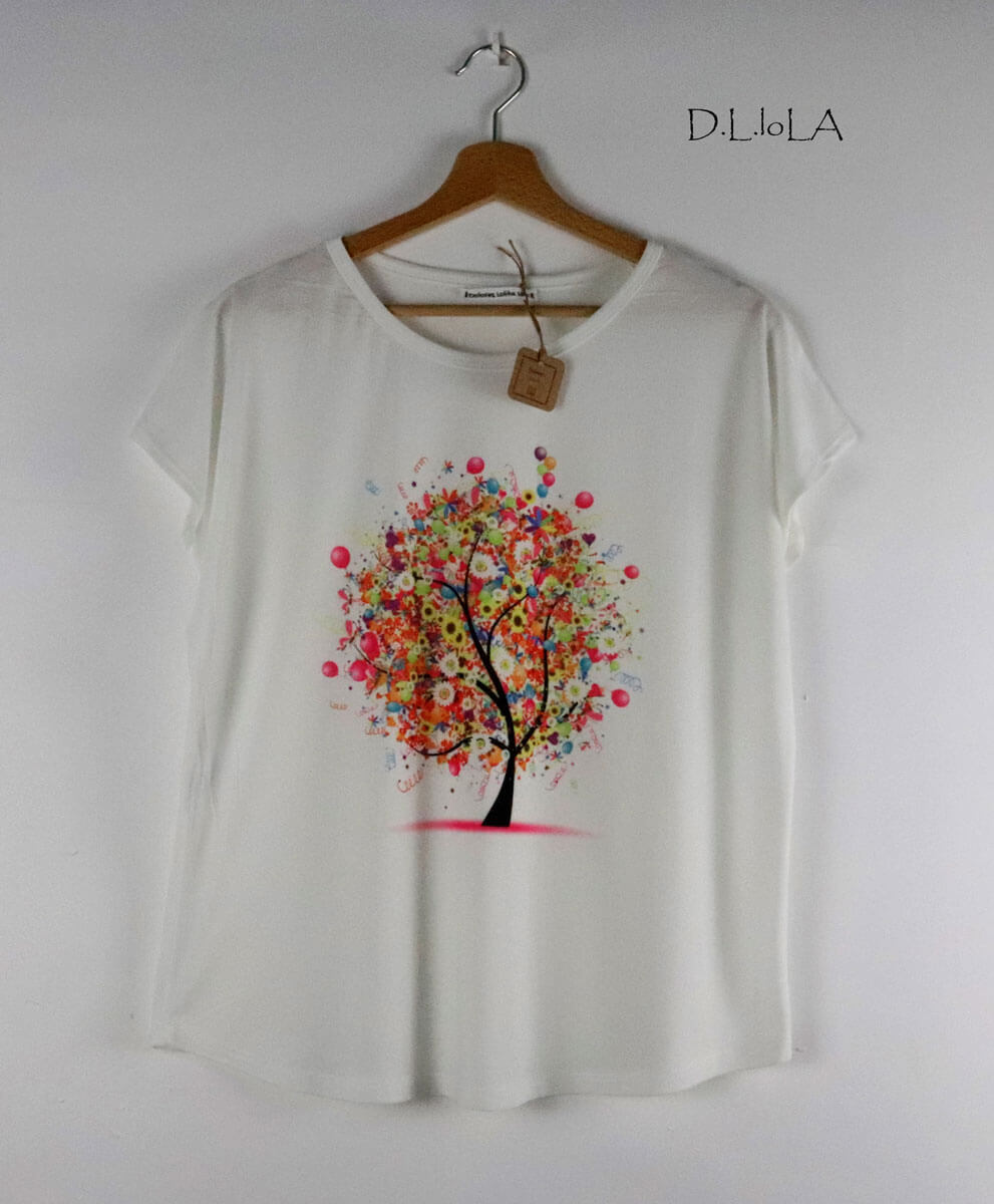 Camiseta Árbol Color