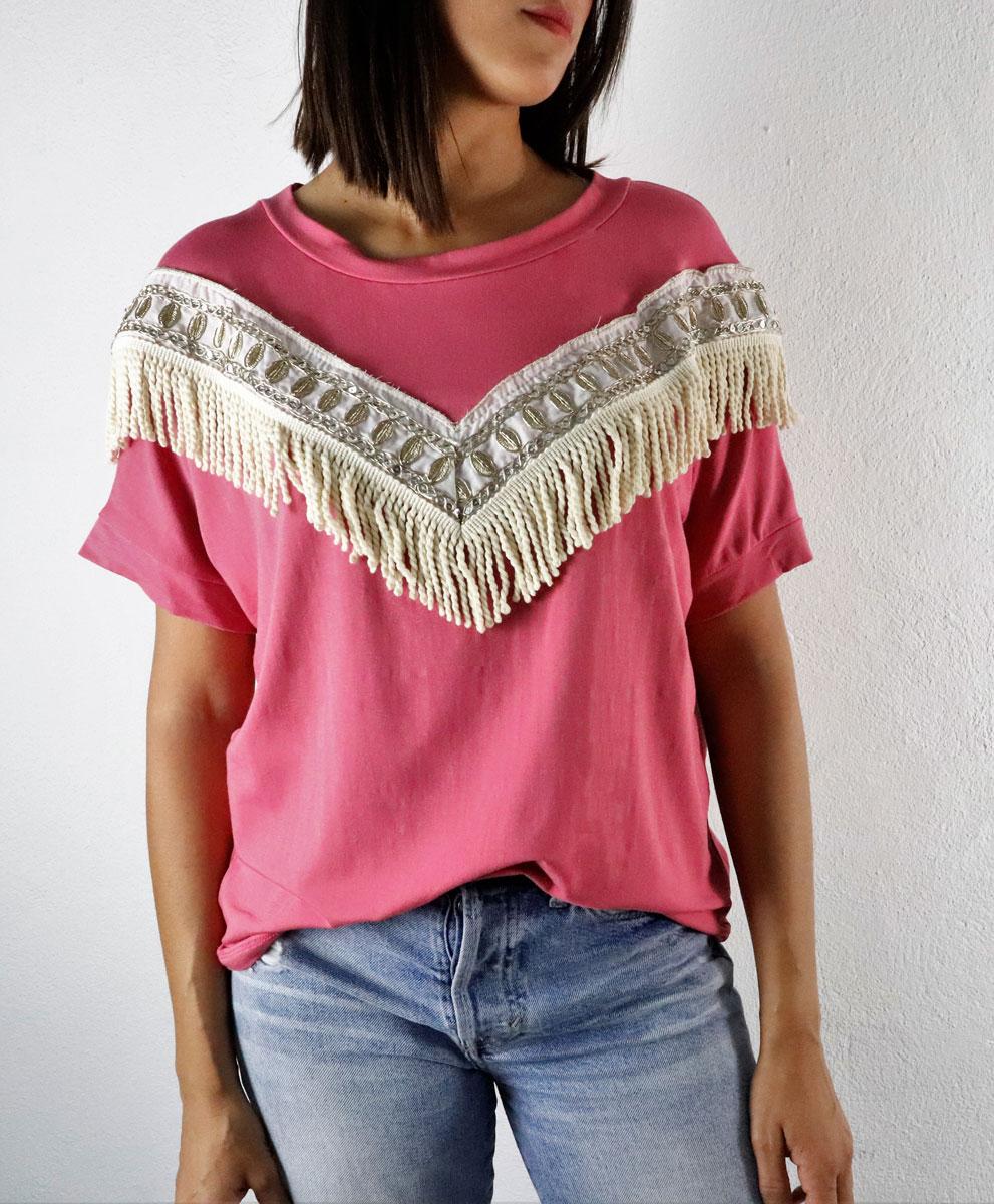 Camiseta Indie Rosa