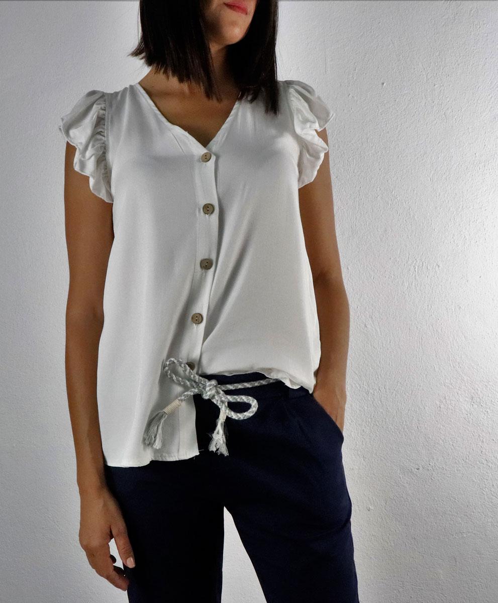Blusa Carmen Blanca