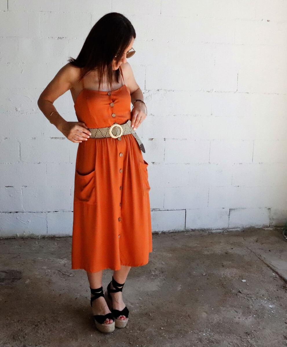 Vestido Aruba Teja