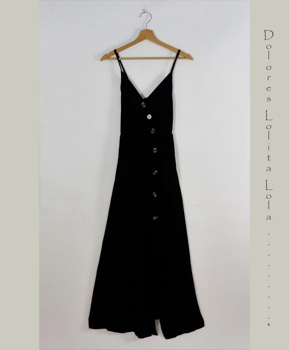 Vestido Negro Button