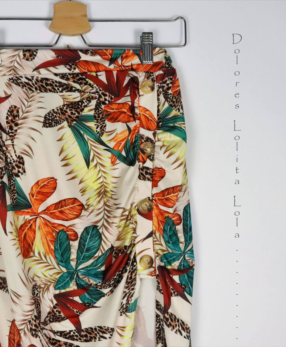 Falda Tropic Button