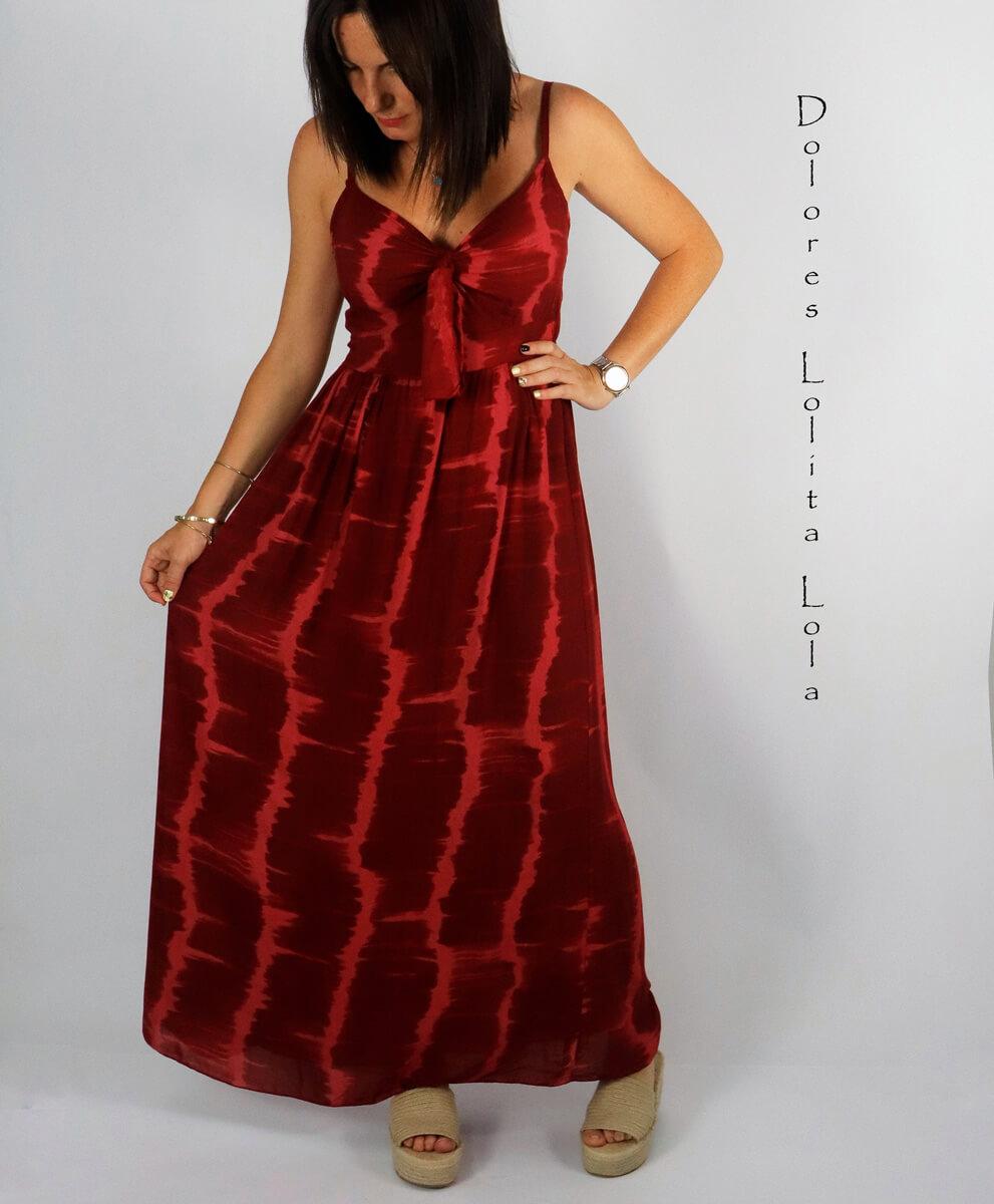 Vestido Tie Die Frambuesa