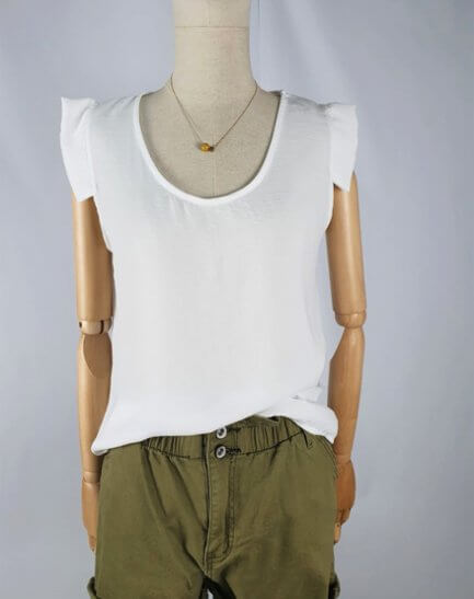 Blusa Blanca mangas Power
