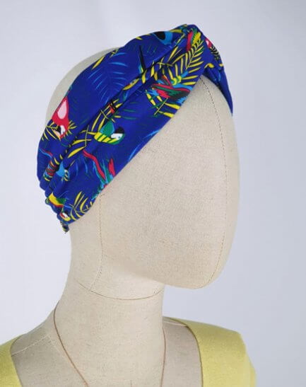 Turbante Tropical Azul