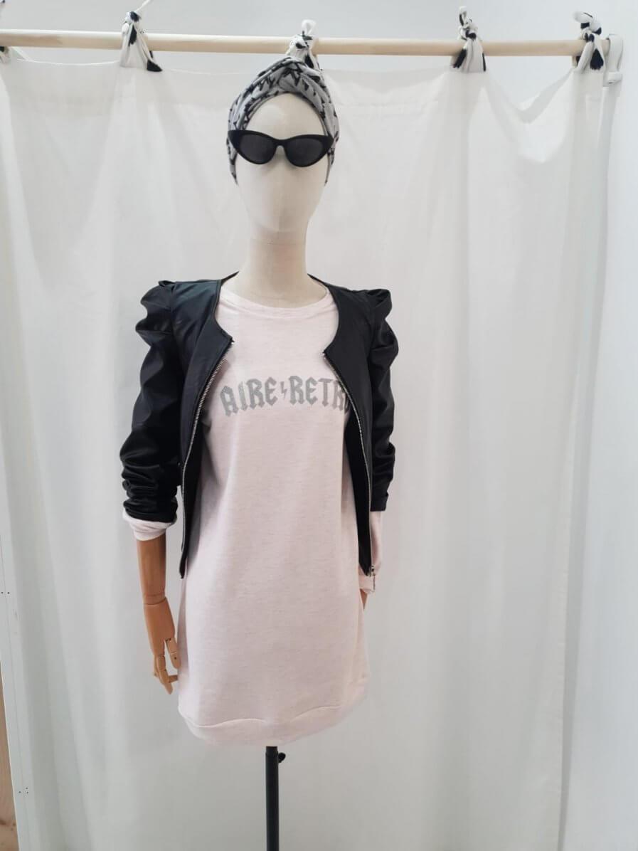 Vestido sudadera rosa Aire Retro