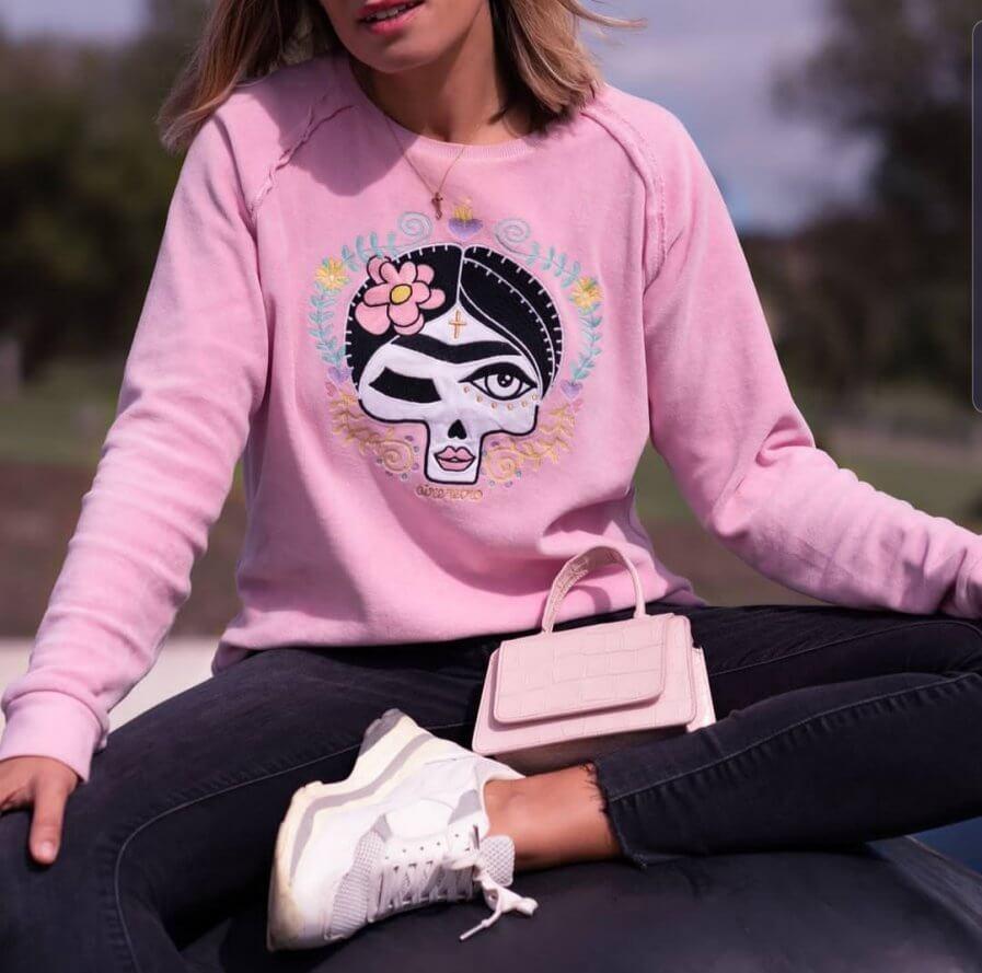 Sudadera rosa Frida