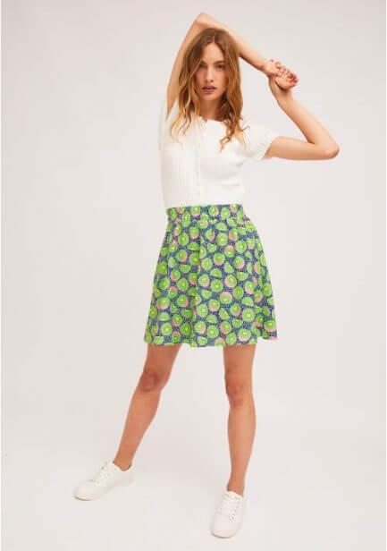 Falda cintura elástica kiwi