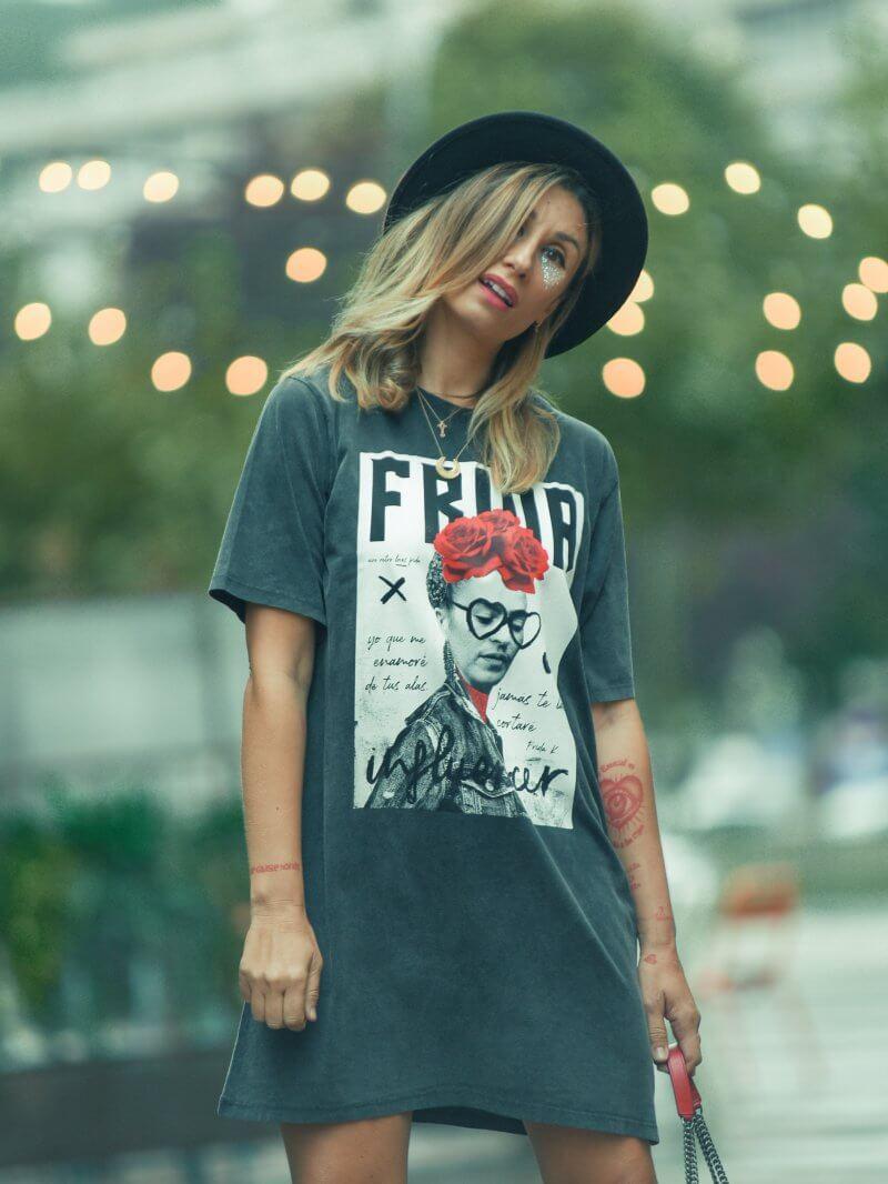 Vestido/camiseta Frida Oversize