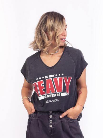 Camiseta muy heavy