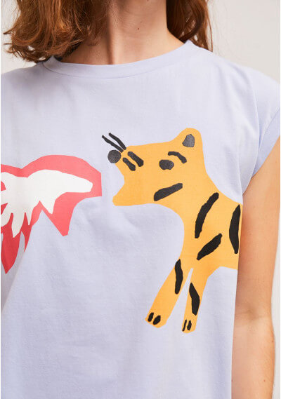 Camiseta tigre fuego