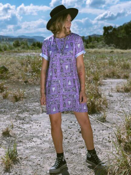 Vestido Paisley lila