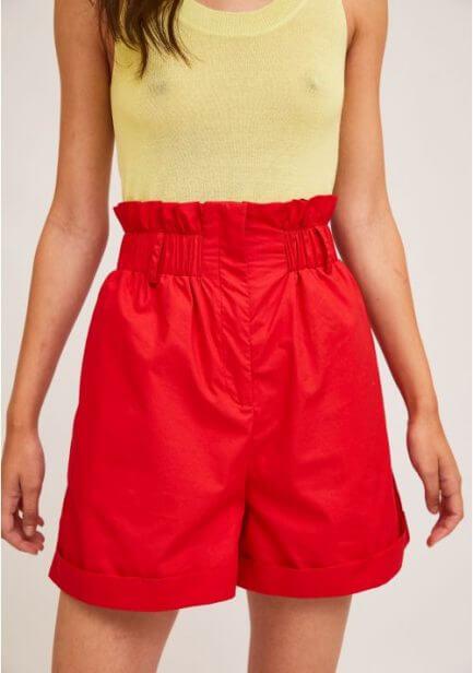 Short rojo cinturilla elástica