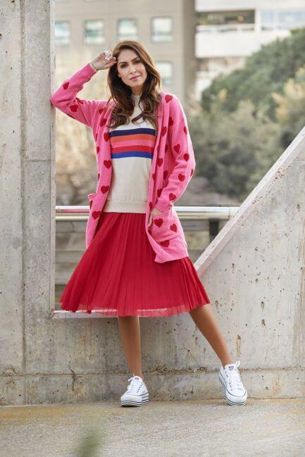 Falda tul rosa