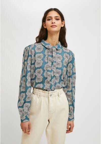 Camisa estampado crisantemos